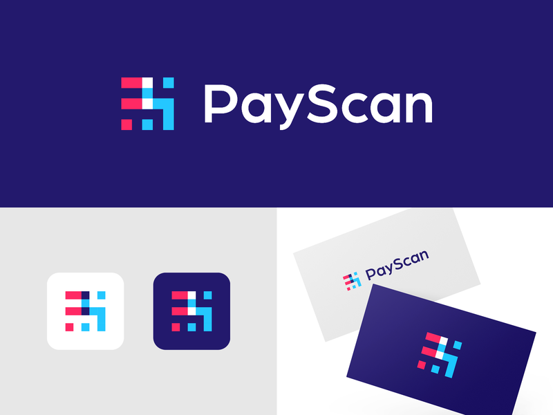 PS Monogram ps monogram logo designer colorful creative smart logos clever logo icon design smart logo logo logo icon branding scan scanner identity logo design fin tech fintech