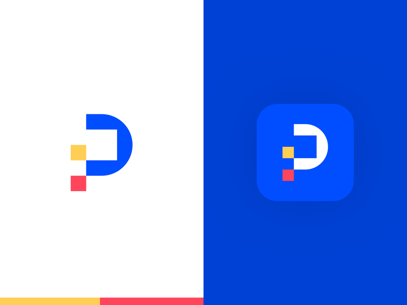 Pix Logo & Icon leologos colorful creative smart logos logo vector blue logo designer icon logo design branding identity design blue logo p p letter app icon logo icon p icon p logo