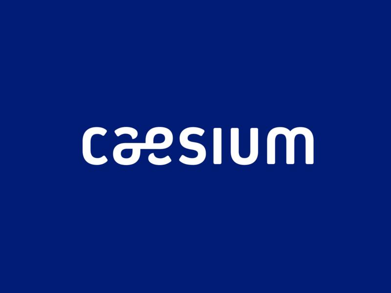 Caesium Wordmark type blue brand negative space typography creative shadows shadow vector blue logo designer branding identity design logo logo design typographical wordmark wordmark logo font typecon