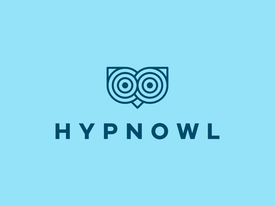 HYPNOWL Logo Design logo icon logo designer branding identity design smart logo logo eye eyes optical optical illusion hypnotic logo hypnotic design logo design bird logo animal logo hypnosis hypnotic owl 🦉