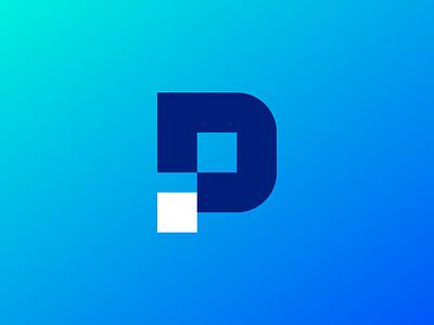 PD Monogram colorful blue logo designer vector creative gradient logo icon clever logo branding identity icon design smart logo logo pd icon pd logo pd monogram d p logo design
