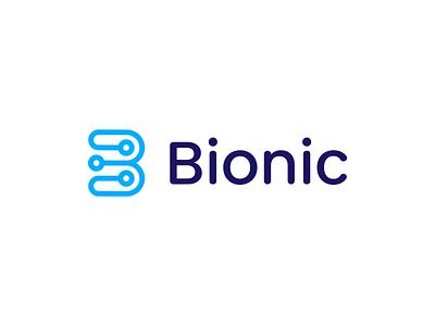 Bionic logotype colorful blue logo designer smart logos logo icon clever logo identity icon design smart logo logo logo design branding b mark blue logo b logo b icon bionic bionics