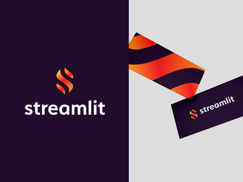 🔥streamlit gradient creative colorful s logo designer smart logos logo icon branding identity icon design smart logo logo logo design stream flame lit hot fire 🔥