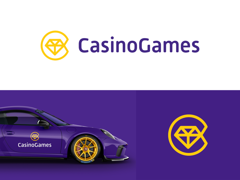 CasinoGames purple creative logo designer smart logos clever logo branding identity icon design logo logo icon 💎 c logo design golden letter c gew casino smart logo logo design gambling
