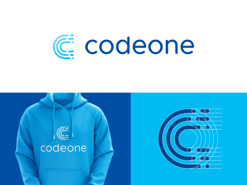 codeone brand logo icon clever logo branding identity icon design smart logo logo logo design grid logo grid lines c icon letter c coding code lines developer code swiss 🇨🇭