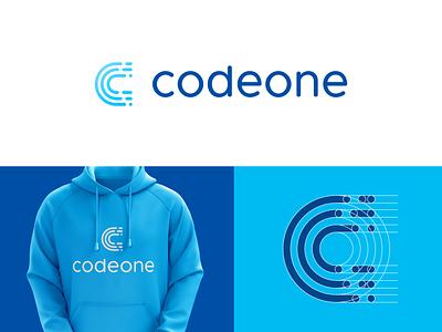 codeone brand logo icon clever logo branding identity icon design smart logo logo logo design grid logo grid lines c icon letter c coding code lines developer code swiss 🇨🇭