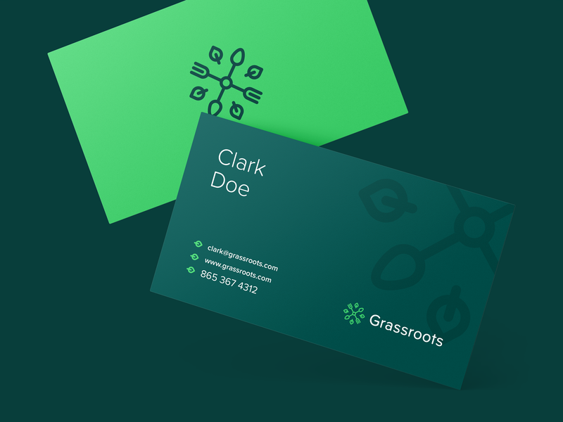 Grassroots Business Cards branding studio food branding and identity branding agency brand identity brand design branding design organic startup branding smart by design smartbbydesign logo design design agency green green brand business card design business cards business card branding identity