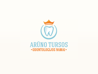 A.T Odontologijos namai teeth blue orange crown logo dentist dentists leo all4leo gold golden sky blue
