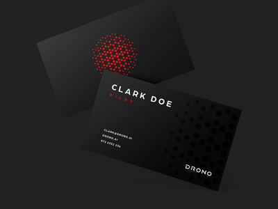 Drono Business Cards branding and identity dark branding print design red logo branding futuristic black design aviation drone startup branding logo design identity business cards business card design business card branding studio branding design branding agency brand identity brand design