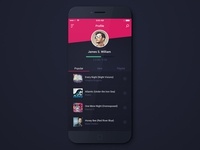 Profile Screen (Music App)