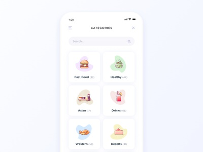 Food Delivery App healthy menu drinks sushi restaurants salad food delivery iphone ios app delivery food