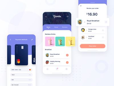 Food Delivery App restaurant app food delivery app order menu payment checkout ux ui iphone smoothies drinks ios food app ui modern shopping restaurant delivery food delivery food app food