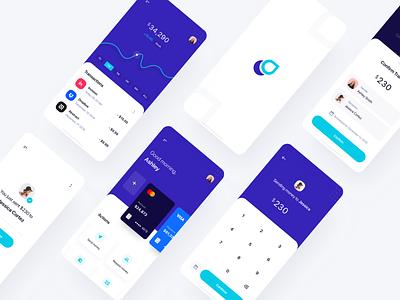 Splash - Mobile UI Kit cards ui8 ios graphic modern clean chat message ui kit credit cards transfer money transfer banking money send money chart finance app fintech finance splash
