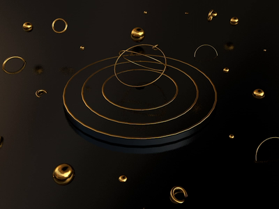 GOLD BLOWING BUBBLES reflexion dark theme rings aep after effects motion graphic motiongraphics motion design aftereffects animation after effects gold artistic direction design 3d animation 3d artist 3d 3d art c4dfordesigners c4dart c4d