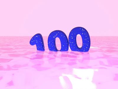 100 FOLLOWERS ✨ concept art 3d art colors render typography clean pink motiongraphics motion design water followers artistic direction colors palette 3d animation 3d artist 3d c4dfordesigners c4dart c4d