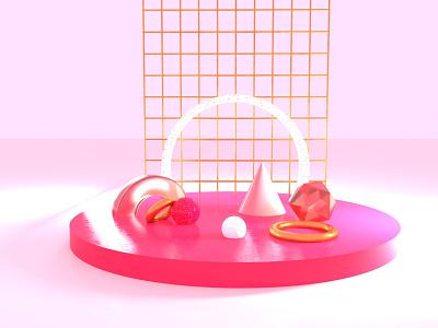 KIND OF OBJECTS experimental conceptual conceptual art sphere diamond 3d 3d artist 3d art illustration artistic direction minimal colors palette design c4dfordesigners c4dart c4d42