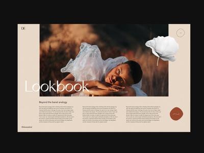 LOOKBOOK PART. 2 flower concept art creative uxdesign uidesign webdesign layoutdesign layout exploration portfolio page portfolio design c4d vector ui 3d art typography web artistic direction minimal colors palette design