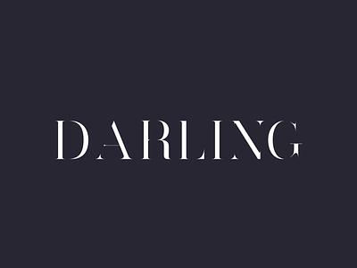 DARLING FONT lettering art lettering art darling web ui logo vector artistic direction illustration typography minimal design