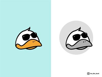 LOU THE DUCK animal animal illustration animal art animal logo logotype logodesign colors palette artistic direction sunglasses duck illustration vector ui logo minimal design