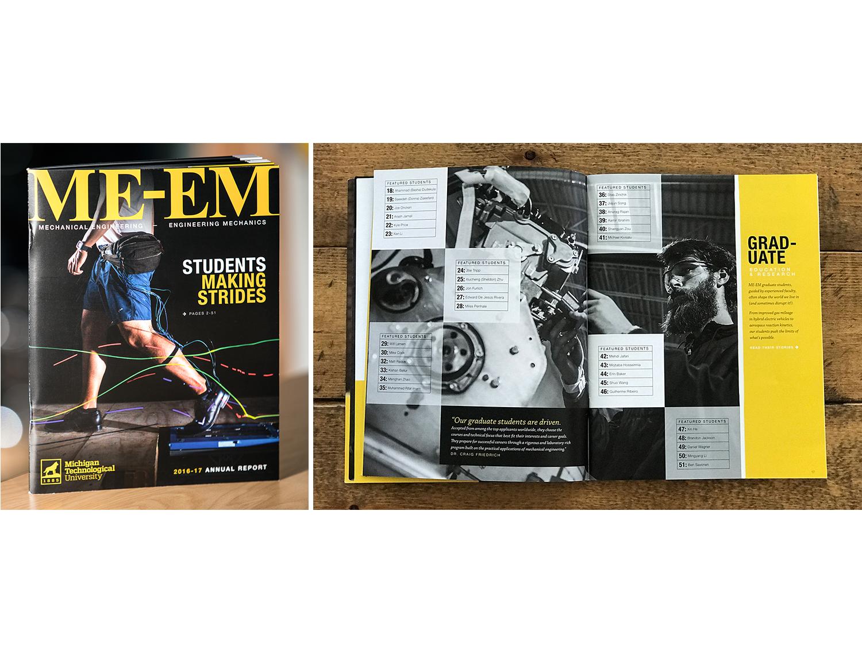 University Engineering Annual Report engineering education newsletter annual report graphic design logo branding