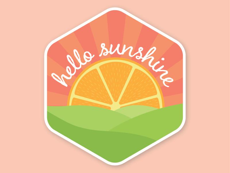 Hello Sunshine vector citrus sunshine hello illustrator illustration
