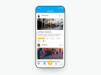 News Feed UI concept for iOS app Discover