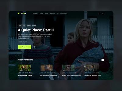OTT platform design concept application broadcast media series movies catalog user interface fresh custome service ott vision content video platform ux ui interface design app