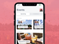 Events App - iPhone X Mockup