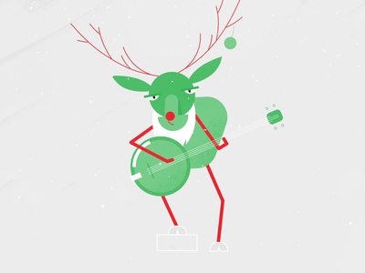 Christmas - Musical Reindeer motionlovers walkcycle mgcollective mdcommunity characteranimation characterdesign character loop animation motiongraphics motiondesign adobeaftereffects aftereffects rubberhose music uprightbass banjo reindeer christmas