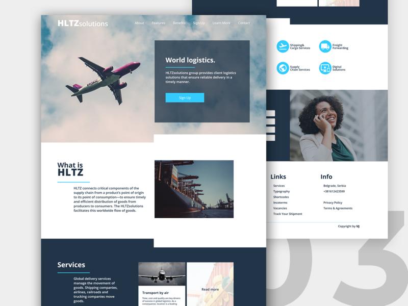 HLTZ Solution - Logistics Websites by Uroš Jakovljević on Dribbble
