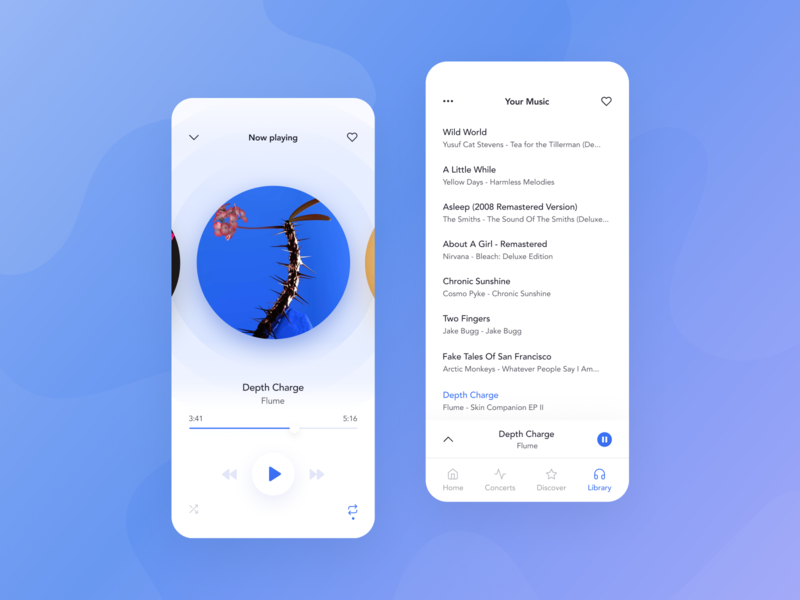 Music Player Mobile App by Paulina Majkowska on Dribbble