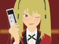 Mary Saotome blonde mary kakegurui mary saotome girl anime drawing draw illustration