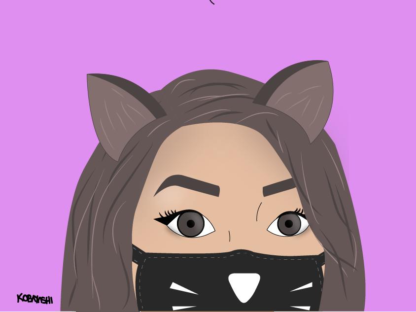 Kitty Girl girl character girl illustration kitty girl vector drawing draw illustration