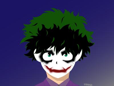 Midoriya Joker dc comics batman boku no hero deku joker dc anime drawing draw illustration