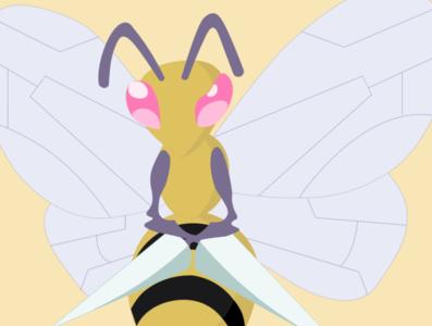 Beedrill beer pokemon beedrill vector drawing draw illustration
