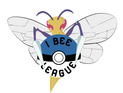 I bee league tournament logo pokemon beedrill logo branding vector drawing draw illustration