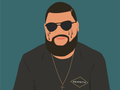 Dude vector draw illustration