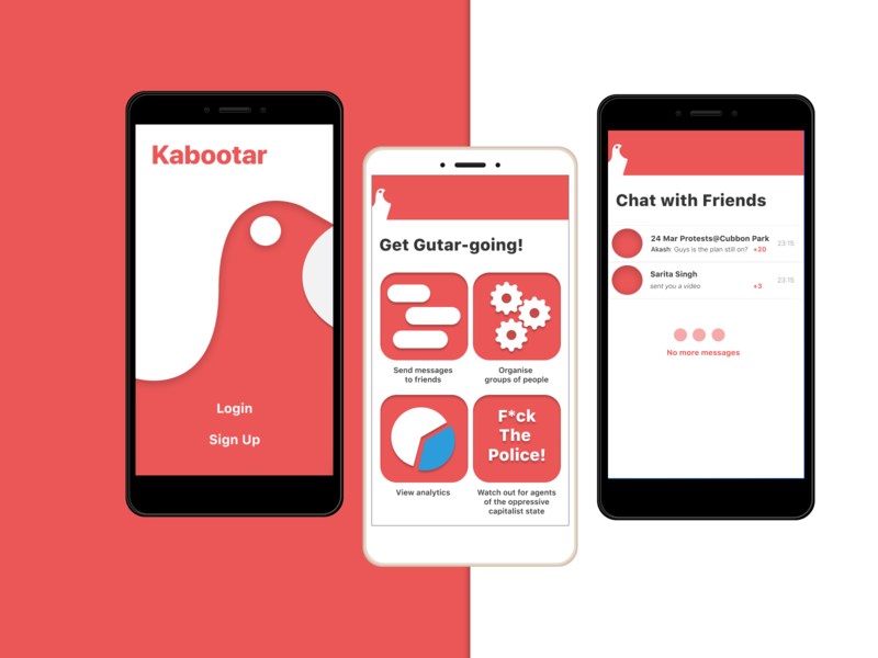 Kabootar Concept for Encrypted Messaging App