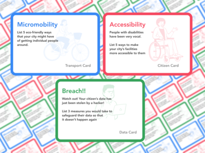 Proposal for Participatory City Planning Boardgame game flashcard boardgame