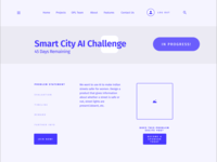 Wireframes for non-profit challenge website