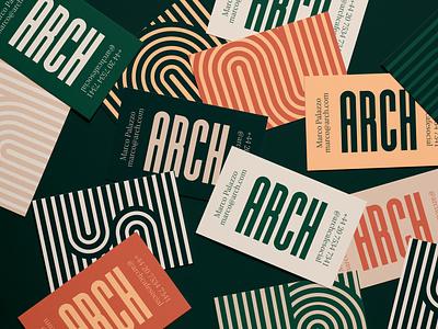 Arch Realistic Business Cards MockUp 4 identity design design pattern brush vector art graphicdesign branding brand design