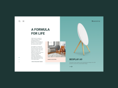 Beoplay Product Showcase Concept