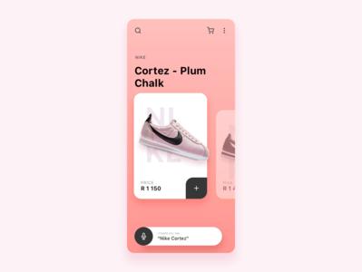 Nike Sneaker App Concept Variation 2