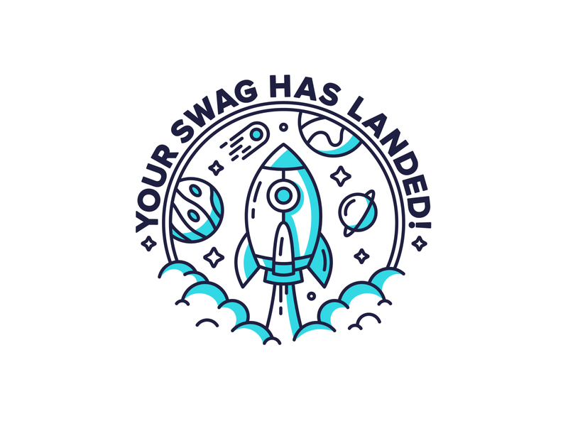 Rocket 🚀 lineart vector art stars tech swag planets space planet badge rocket character cute graphic flat design dribbble icon vector illustration design branding