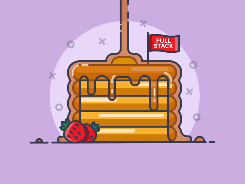 Pancakes🥞 cute creative branding minimal lineart line flat typography graphic design graphic flat design dribbble vector illustration icon design developer pancakes breakfast food