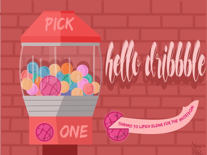 Hello Dribbble grahicdesign art animation illustration vector design flat
