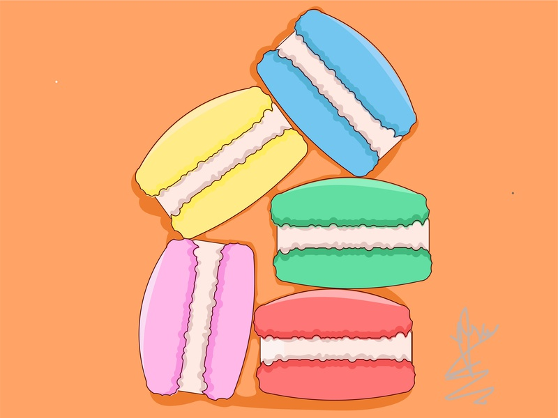 Macarons doodleart doodle drawingart drawing artwork artist animation design design art vector illustration grahicdesign flat design art animation