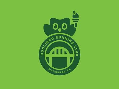 Duolingo Running Club t-shirt badge club running