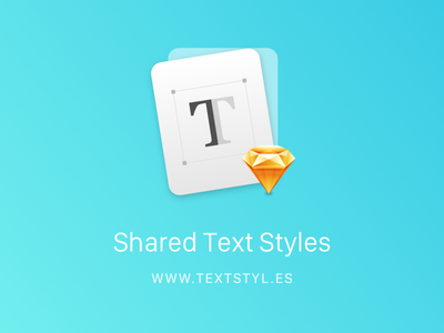 Shared Text Styles - Sketch Plugin yummygum style typography text plugin sketch