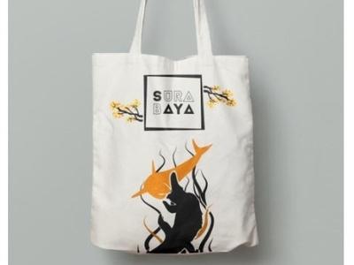 Calico Totte Bag of Sparkling Surabaya tabebuia calico sparkling surabaya surabaya totte bag bag hand bag